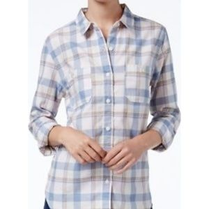 LEVI'S BOYFRIEND FIT Plaid Button Down Shirt, M